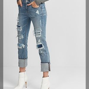 Express Cropped Skinny Mid rise jeans